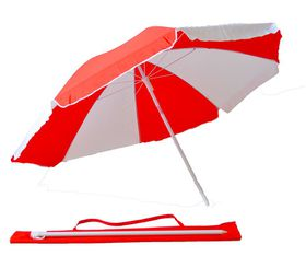 St Umbrella - Beach Umbrella - Red and White