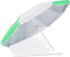 St Umbrella - Beach Umbrella - Emerald Green and White