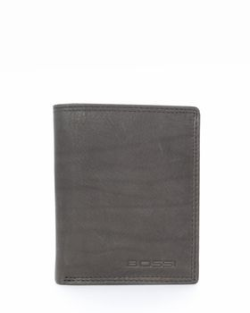 Bossi Leather Bill Wallet in Black