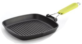 Risoli - Saporelax Grill Pan 26 x 26cm Yellow Folding Handle