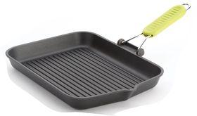 Risoli - Saporelax Grill Pan 36 x 26cm Yellow Folding Handle