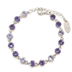 Civetta Spark bracelet with mix Purple Swarovski Crystal
