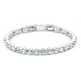 Civetta Spark tennis bracelet - Made with Clear Swarovski crystal