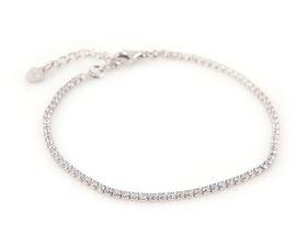 Coeval Sterling Silver Fine CZ Bracelet (19 cm)