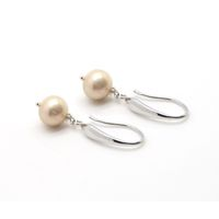 Coeval Pink Dangling Fresh Water Pearl Silver Earrings