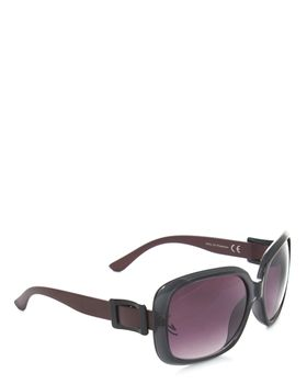 Bad Girl Hollywood Sunglasses In Black And Wine