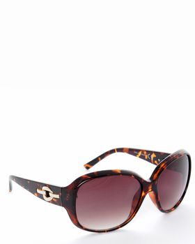Bad Girl Flat Out Fab Sunglasses in Brown