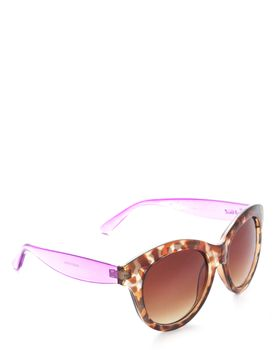 Bad Girl Sunglasses in Brown and Purple