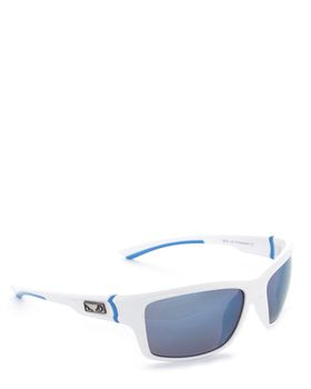 Bad Boy Rush-Revo Sunglasses in White and Blue