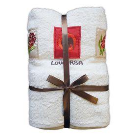 Zorbatex - 3 Piece Love RSA Towel Gift Set - Cream