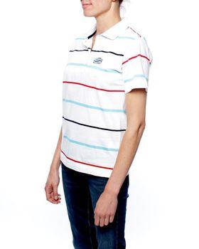 Swagg Ladies Stripes Mercerized Golfer - White