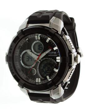 Gotcha Men's Anadigital  Watch in Black and Silver