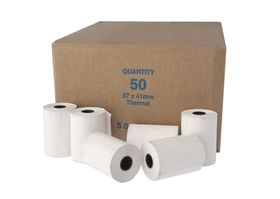 Slam Paper White Thermel Rolls 57x41mm (Pack of 50)
