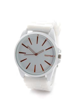 Digitime Ladies Cyber Analogue watch in White