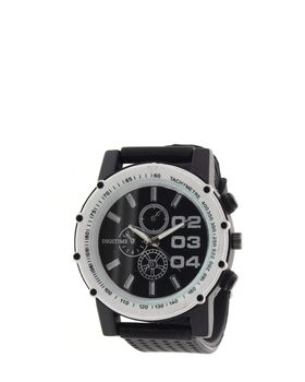 Digitime Mens Rudder Analogue watch in Black and White