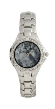 Digitime Ladies Tammy watch in Silver and Smoke Grey Pearl