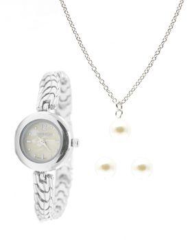 Digitime Ladies Watch and Pearl Jewellery Set