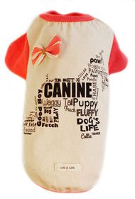 Dog's Life - Canine Waggy Tail Tee With Bow Pink - Extra-Large