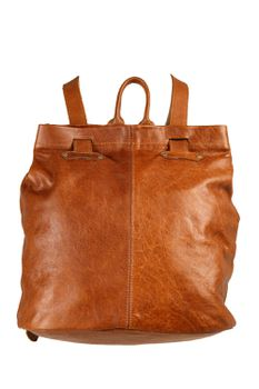 King Kong Leather 2in1 Leather Back Pack - Tan