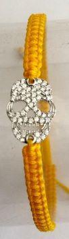 Fred Tsuya String Skull Bracelet 925 Silver 18k - White Gold Plated