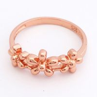 Yesterday Today Tomorrow Flower Ring - Rose Gold (Size: P)