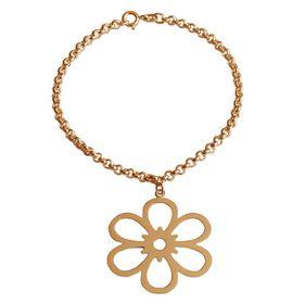 Open Daisy Flower Bracelet - Yellow Gold
