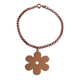 Solid Daisy Flower Bracelet - Rose Gold