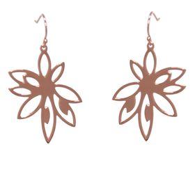 Bromelia Flower Earrings - Rose Gold
