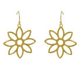 Namaqua Daisy Flower Earrings - Yellow Gold