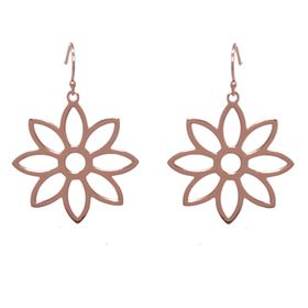 Namaqua Daisy Flower Earrings - Rose Gold