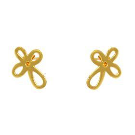 Jasmine Stud Flower Earrings - Yellow Gold