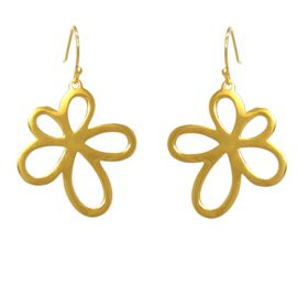Jasmine Flower Earrings - Yellow Gold