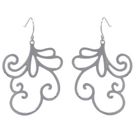 Sweet Pea Flower Earrings - Sterling Silver
