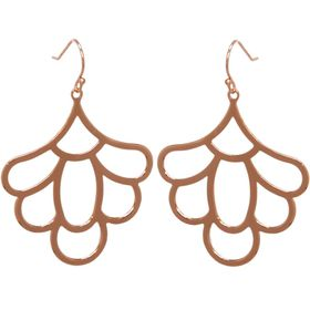 Freesia Flower Earrings - Rose Gold