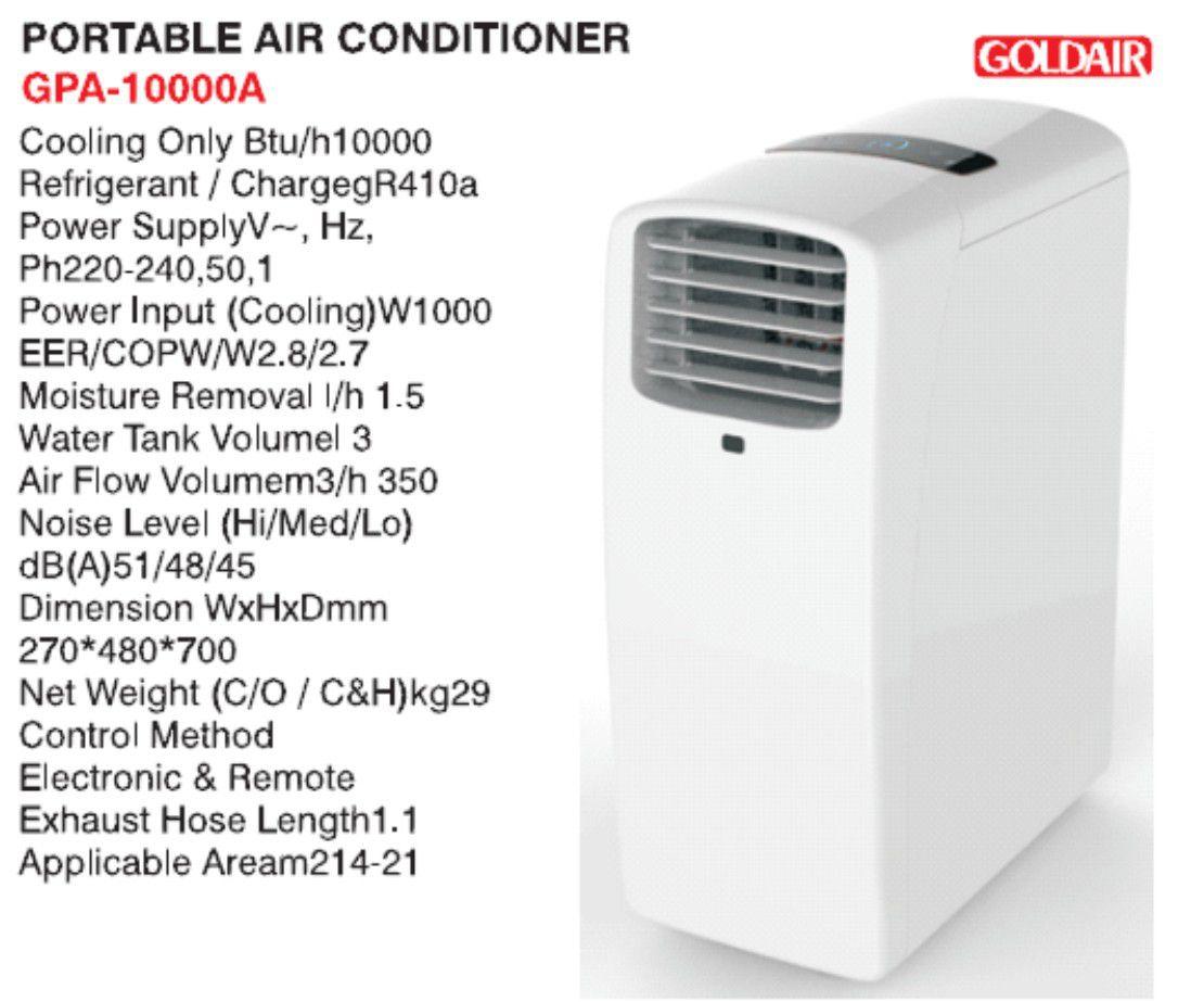 Goldair Portable Aircon White 6001889034012 Buy