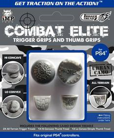 Trigger Treadz Combat Elite - Urban Camo Trigger Grips and Thumb Grips (PS4)