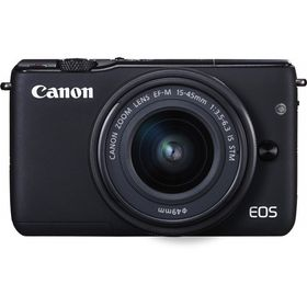 Canon EOS M10 Mirrorless Camera with 15-45mm IS STM Lens Black