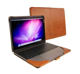 "Tuff-Luv Faux Leather Case Cover for Macbook 12"" - Brown"