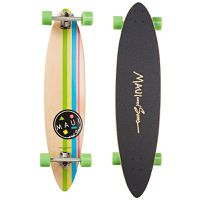Maui And Sons Cookie Stripe Pintail Longboard