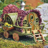 Miniature Fairy Gardens Fiddlehead Gypsey Wagon Fairy Home