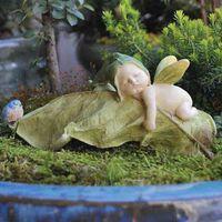 Miniature Fairy Gardens Fairy Baby with Blue bird