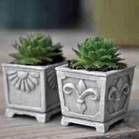 Miniature Fairy Gardens Miniature Classic Square Planters Set Of 2