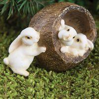 Miniature Fairy Gardens Bunnies In a Nut Shell