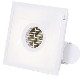Bright Star - Square Bathroom Extractor Fan - White