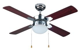 Bright Star - Chrome Ceiling Fan