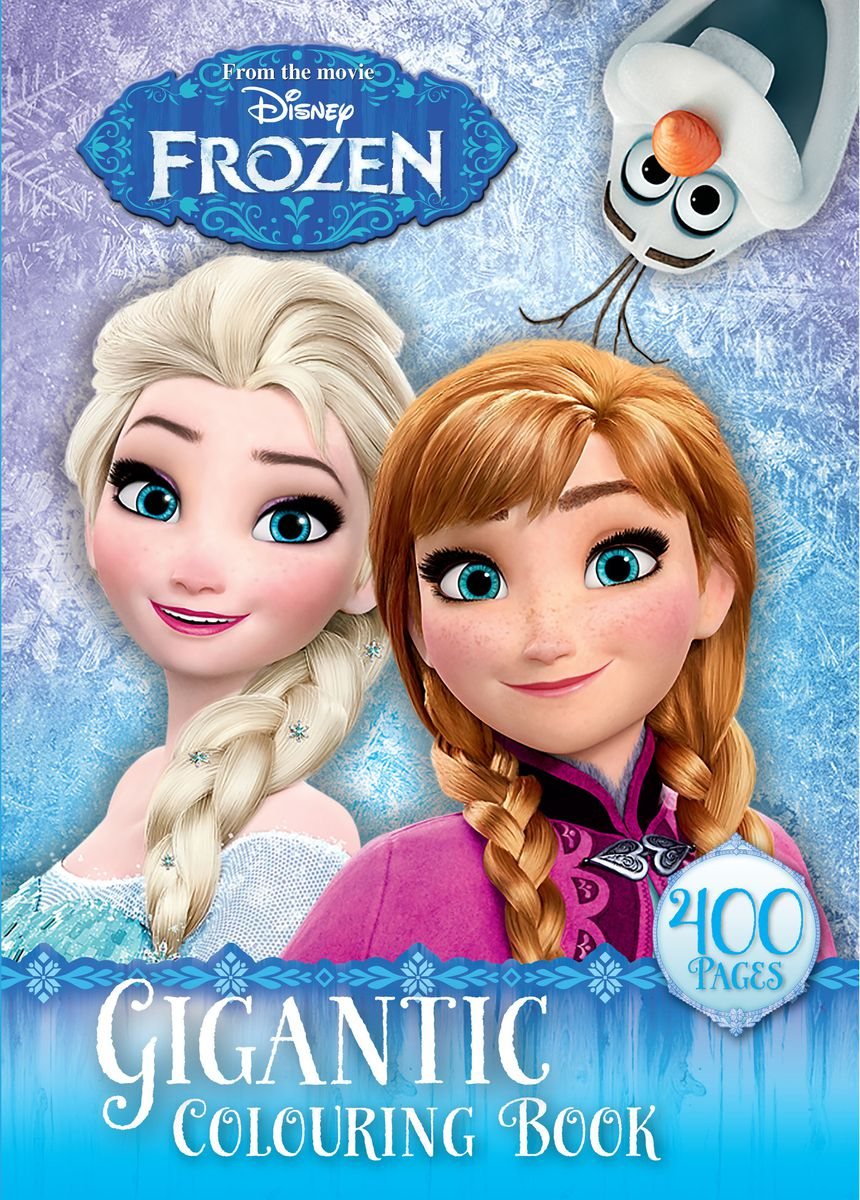 Disney Frozen 400 Page Gigantic Colouring Book Loading Zoom