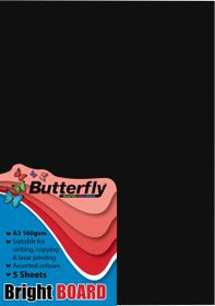 Butterfly A3 Bright Board 5s - Black