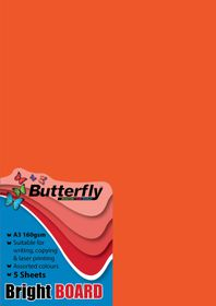 Butterfly A3 Bright Board 5s - Orange