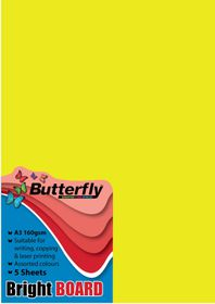 Butterfly A3 Bright Board 5s - Yellow