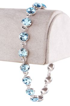 Civetta Spark bracelet - made with Aquamarine Swarovski crystal